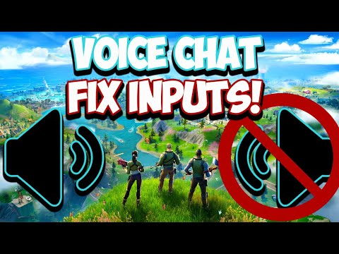 Voice Chat Input And Output Fortnite