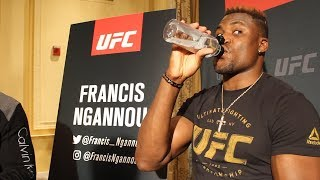 UFC 218 Media Day: Francis Ngannou just punches things, doesn
