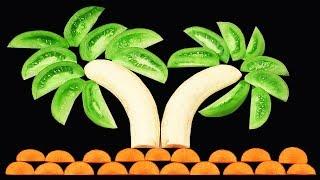 Amazing Banana Decoration | Fruit Carving Banana | Banana Carving