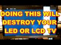 WHAT NOT TO DO TO A LED LCD TV Sony LED LCD TV with a White Bar In The Picture