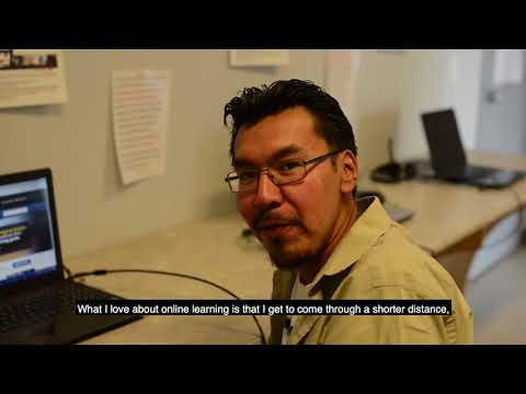 Online learning - Joshane Fiddler, Sandy Lake First Nation