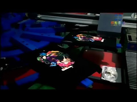 Automatic Digital Inkjet and Silk Screen Combination Printing Machine for T-shirt/Garment