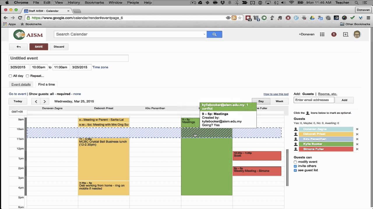 google calendar scheduling multiple people youtube