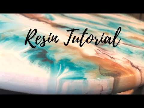 Refinish your Lazy Susan (White, Nickel and Teal Resin Marble Look)