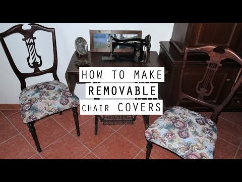 DIY | How To Make Removable CHAIR COVERS