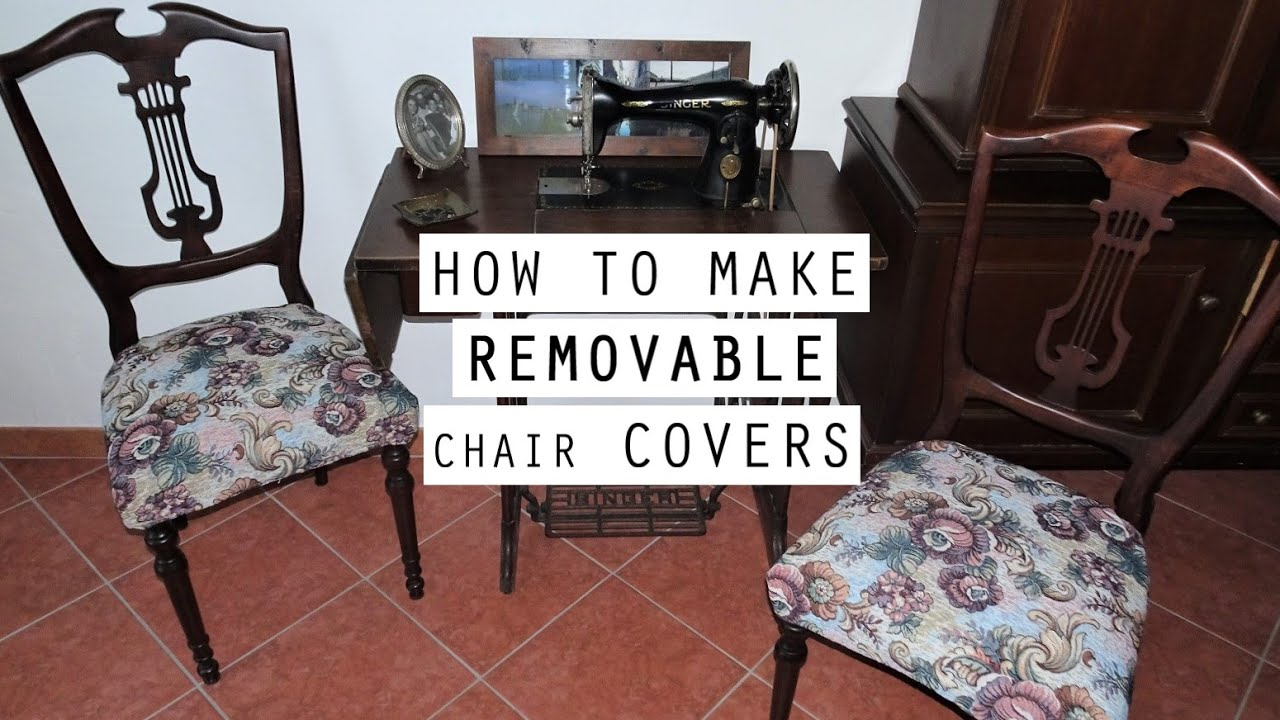 Make Removable Chair Covers, How To Make Chair Covers For Dining Room