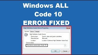 How to fix This Device Cannot Start Code 10 Error