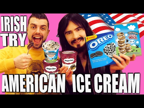 Irish People Taste Test - 'AMERICAN ICE CREAM'