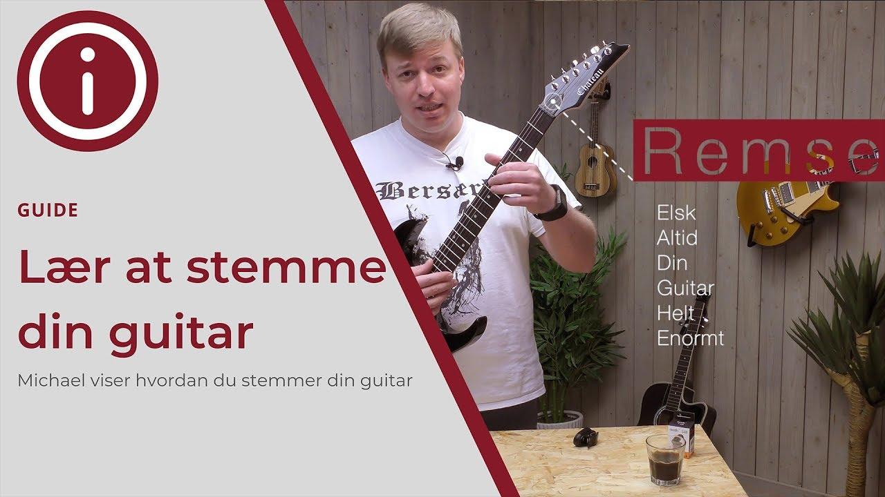 Guide: Lær at stemme din guitar