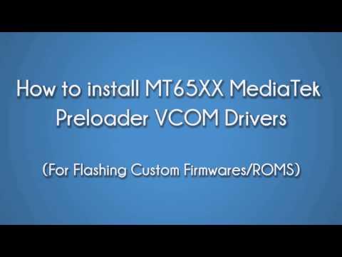 Install MTK65XX USB VCOM Drivers In Windows