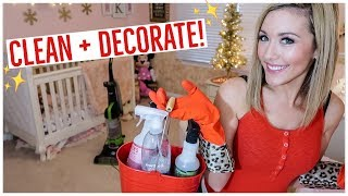 CLEAN WITH ME 2018 💪🏼✨| CLEAN AND DECORATE WITH ME FOR CHRISTMAS KIDS BEDROOM + BATHROOM | Brianna K