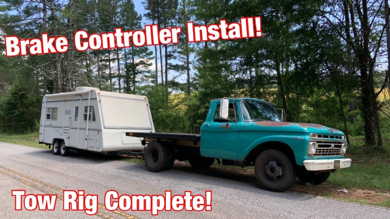 Installing a Hitch and Trailer Brake Controller on our Field Find '66 F350 Tow Rig