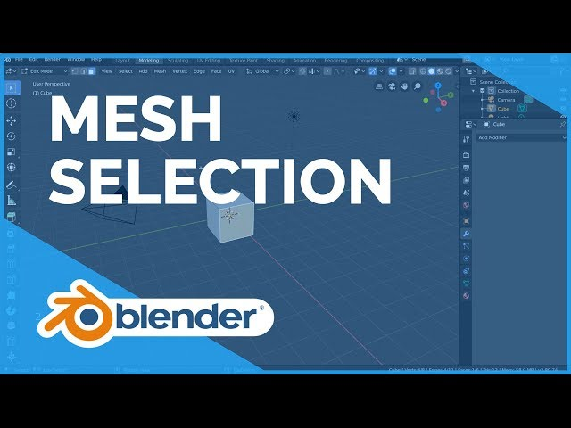 Mesh Selection Mode - Blender 2.80 Fundamentals