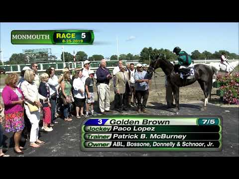 video thumbnail for MONMOUTH PARK 8-25-19 RACE 5 – CHARLES HESSE III HANDICAP