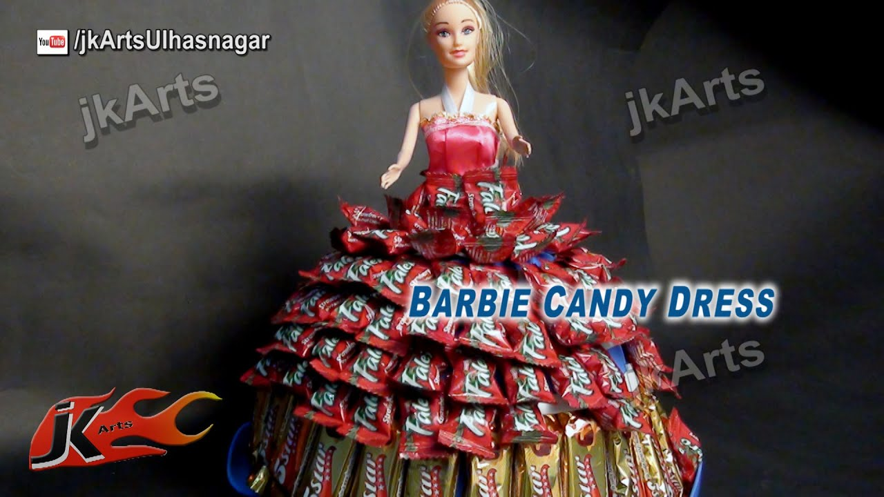 Diy Candy Created Barbie Dress How To Make A Candy Dress Jk Arts 589 Youtube