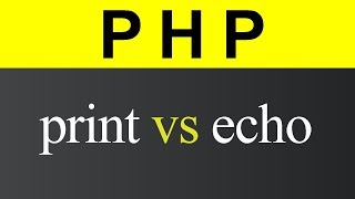 Difference between print and echo in PHP (Hindi)