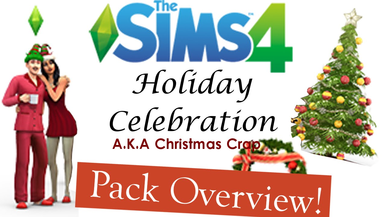 sims 4 holiday celebration christmas crap free stuff pack review