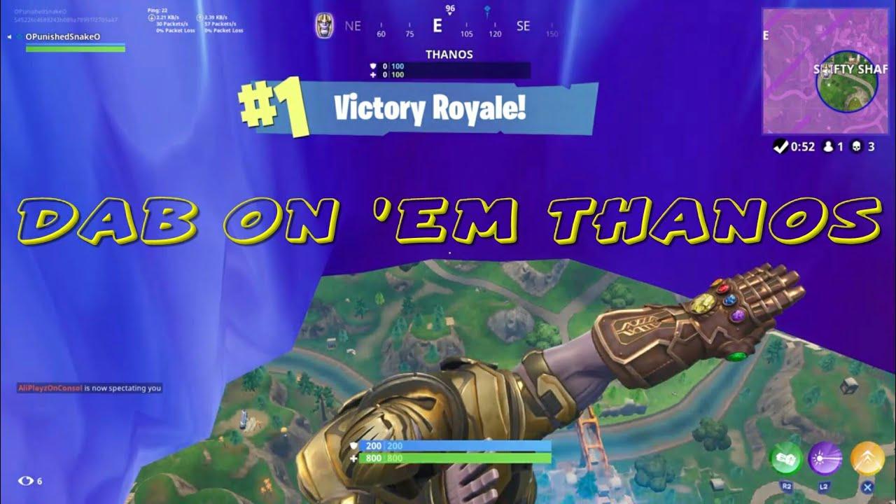 Defeating Thanos 1v1 Fortnite Battle Royale Infinity
