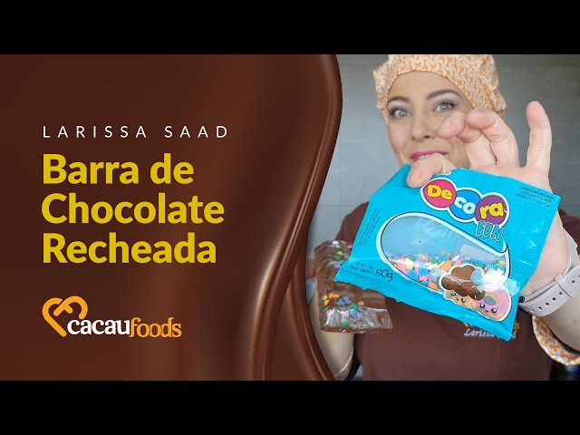 Barra de Chocolate Recheada | Cacau Foods