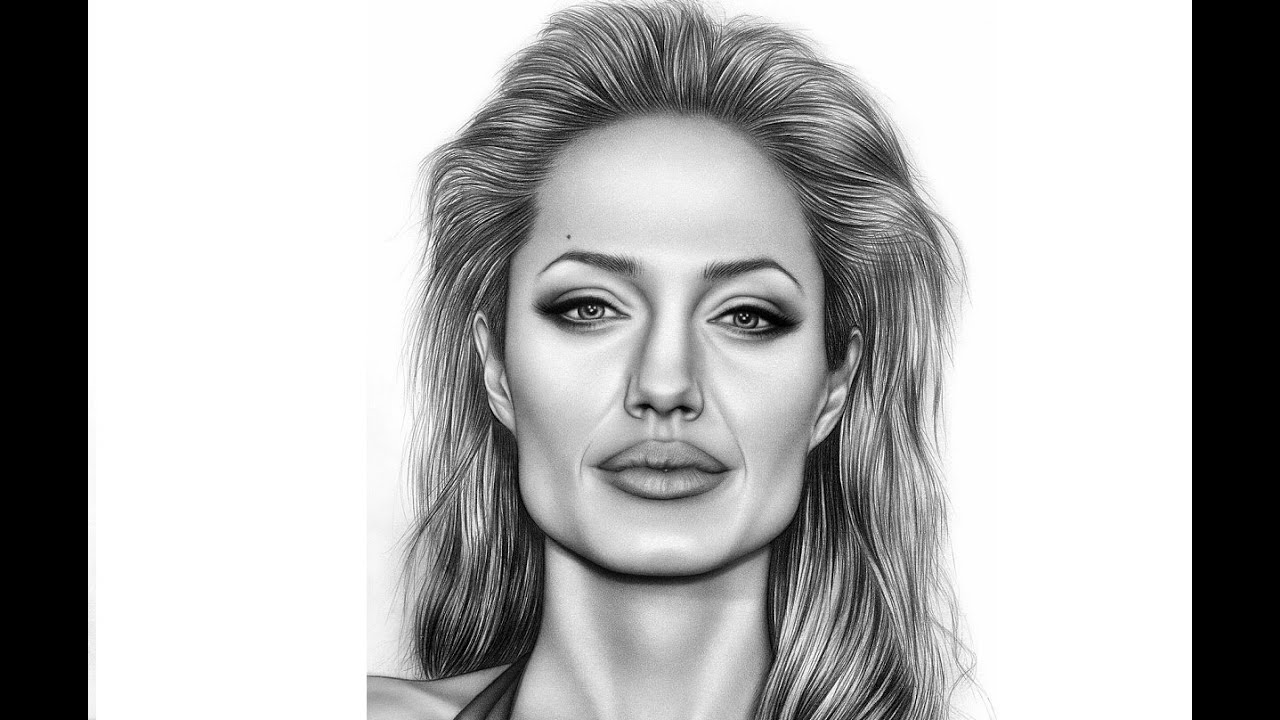 Drawing Angelina Jolie