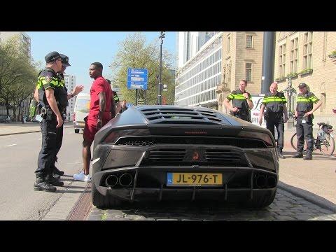 Eljero Elia got pulled over with his Lamborghini Huracan.