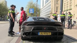 Eljero Elia got pulled over with his Lamborghini Huracan.