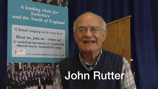 Message from John Rutter | Yorkshire Philharmonic Choir