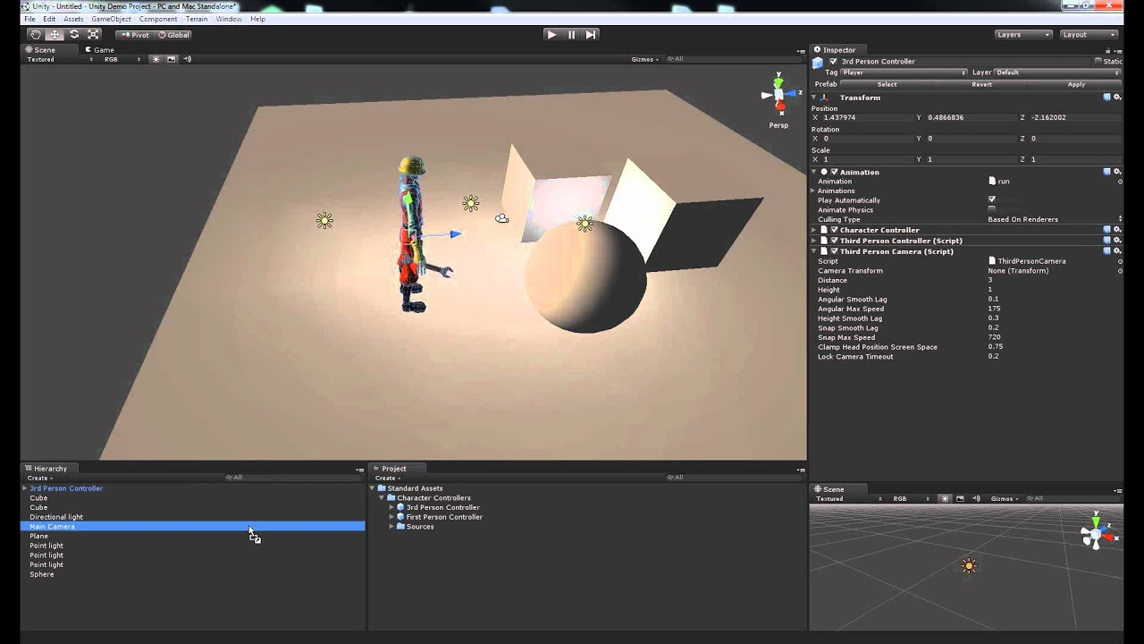 Making a Character You Can Control in Unity3D (pre Unity 4 0 0f!)
