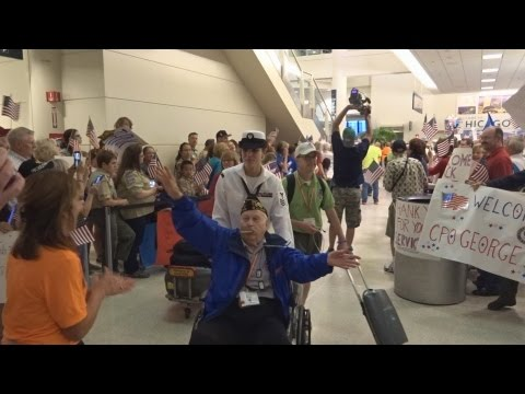 Honor Flight Chicago - June 30, 2015 - Midway Airport