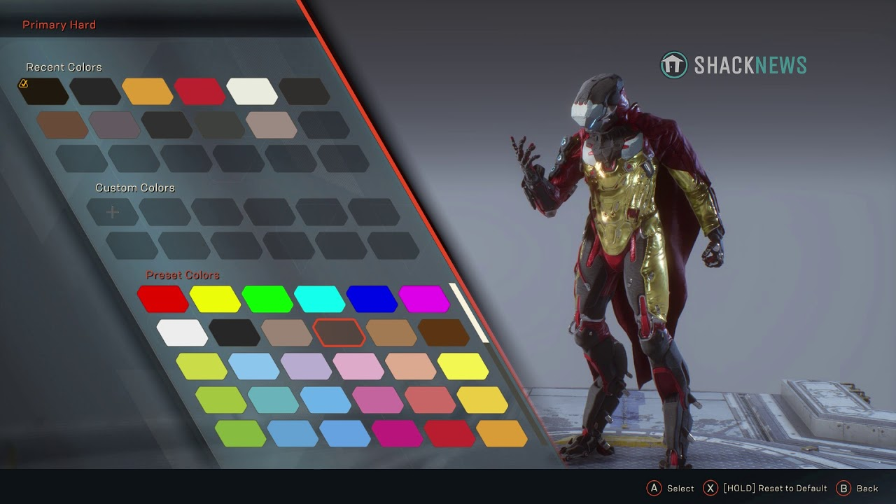 Anthem Storm Protoype Iron Man Armor Youtube