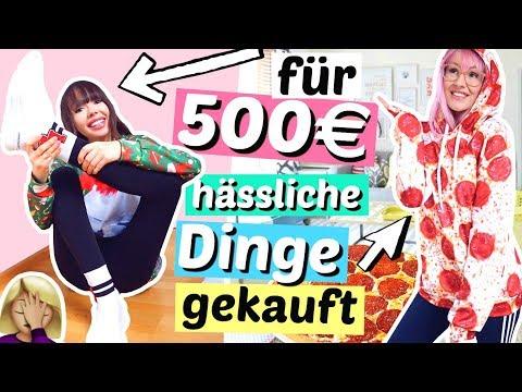 mit 500€ die hässlichsten Dinge & Outfits kaufen 🤢| ViktoriaSarina