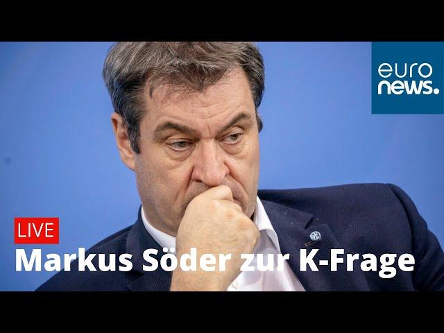 LIVE: Markus Söder zur K-Frage