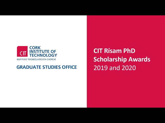 CIT Risam PhD Scholarship Awards 2019 & 2020