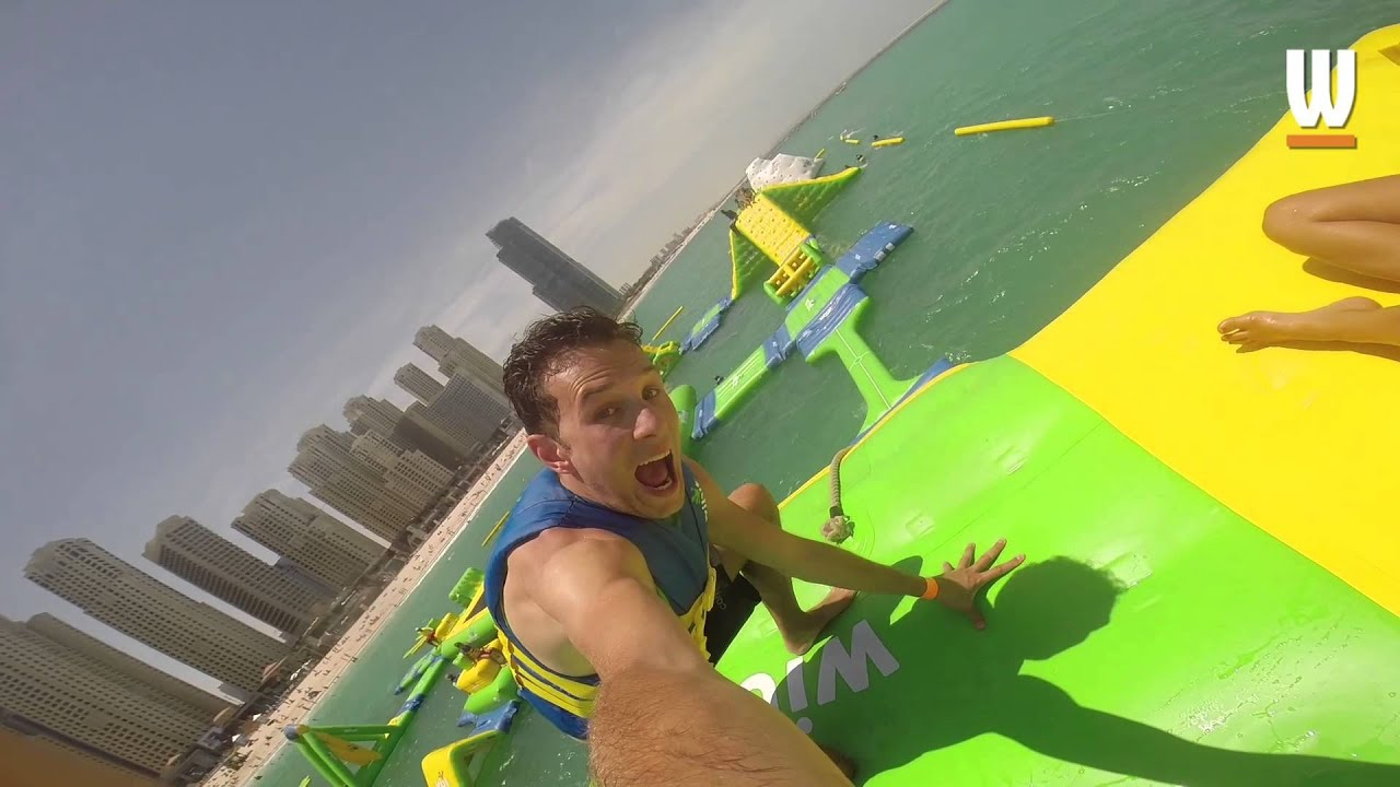 Wibit In Dubai Inflatable Water Park Youtube