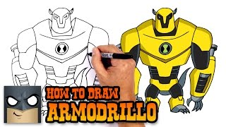 How to Draw Armodrillo | Ben 10