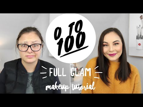 Zero to 100 FULL GLAM Makeup Tutorial   GRWM
