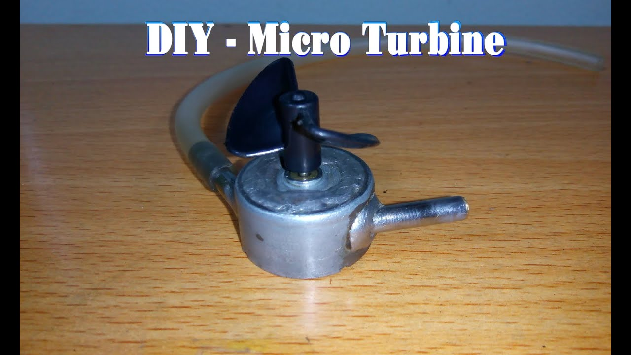 How To Make A Micro Turbine From Motor 5v Youtube