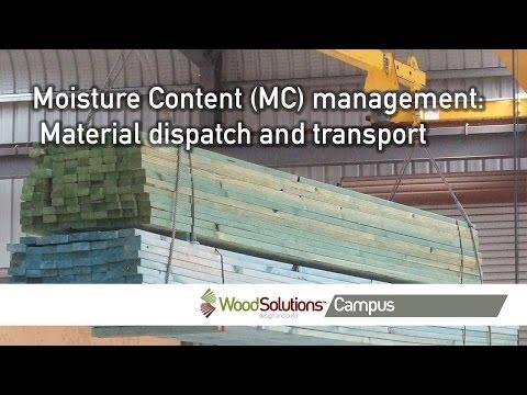 Moisture Content (MC) management: Material dispatch and transport