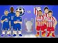 🤣Chelsea vs Atletico Madrid: the cartoon!🤣 2-0 Champions League Goals Highlights 2021 Ziyech