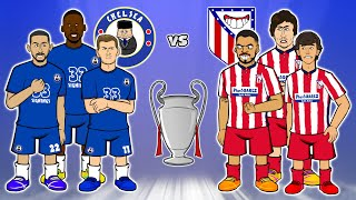 🤣Chelsea vs Atletico Madrid: the cartoon!🤣 (2-0 Champions League Goals Highlights 2021 Ziyech)