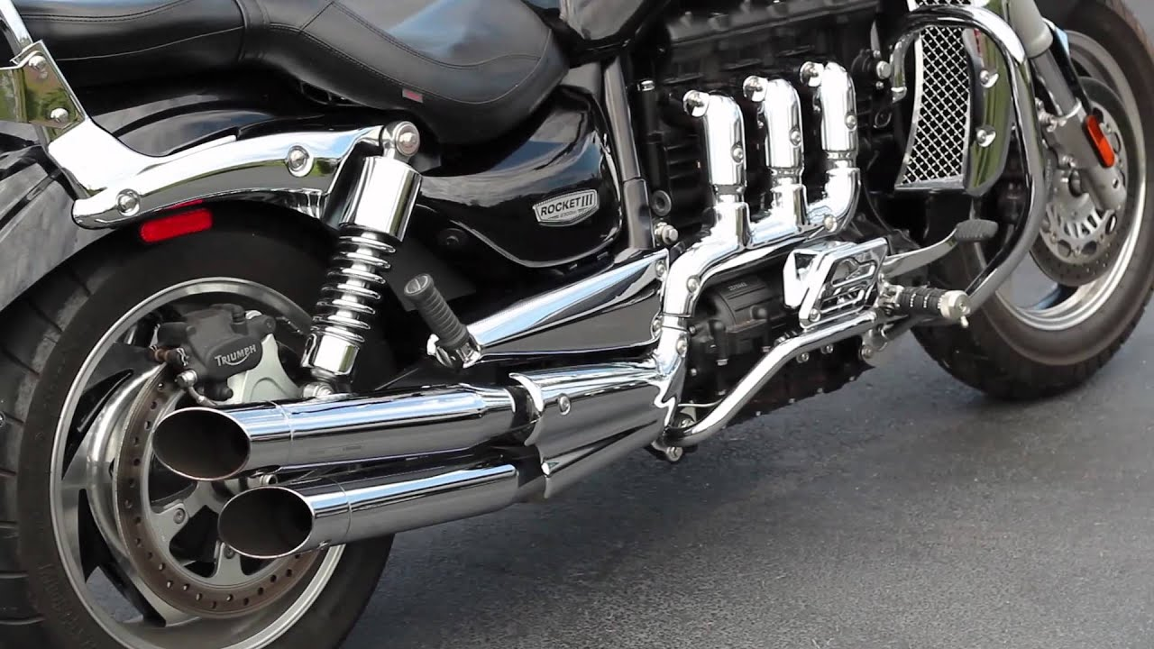 triumph rocket 3 startup & flybys (tors exhaust) - youtube