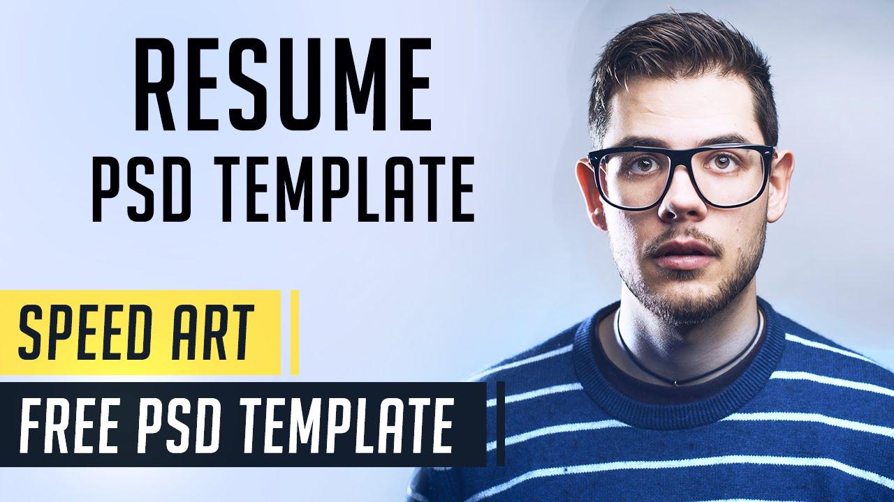 Modern Resume | Photoshop Speed Art | Free PSD Template