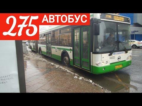 Автобус 275 Калужская площадь - метро Орехово // 31 января 2019