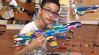 Lắp Ráp LEGO ở Mỹ, Lắp Ghép Lego Súng, Đạn Bắn Bằng LEGO (Crossbow Gun)