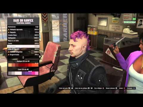 GTA ONLINE: Poner dos colores en vuestro peinado PS4/XBOX ONEmp4