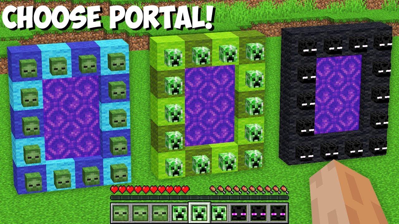 New SECRET WAY TO BUILD MOB PORTAL in Minecraft ! CHOOSE BETTER MOB PORTAL !