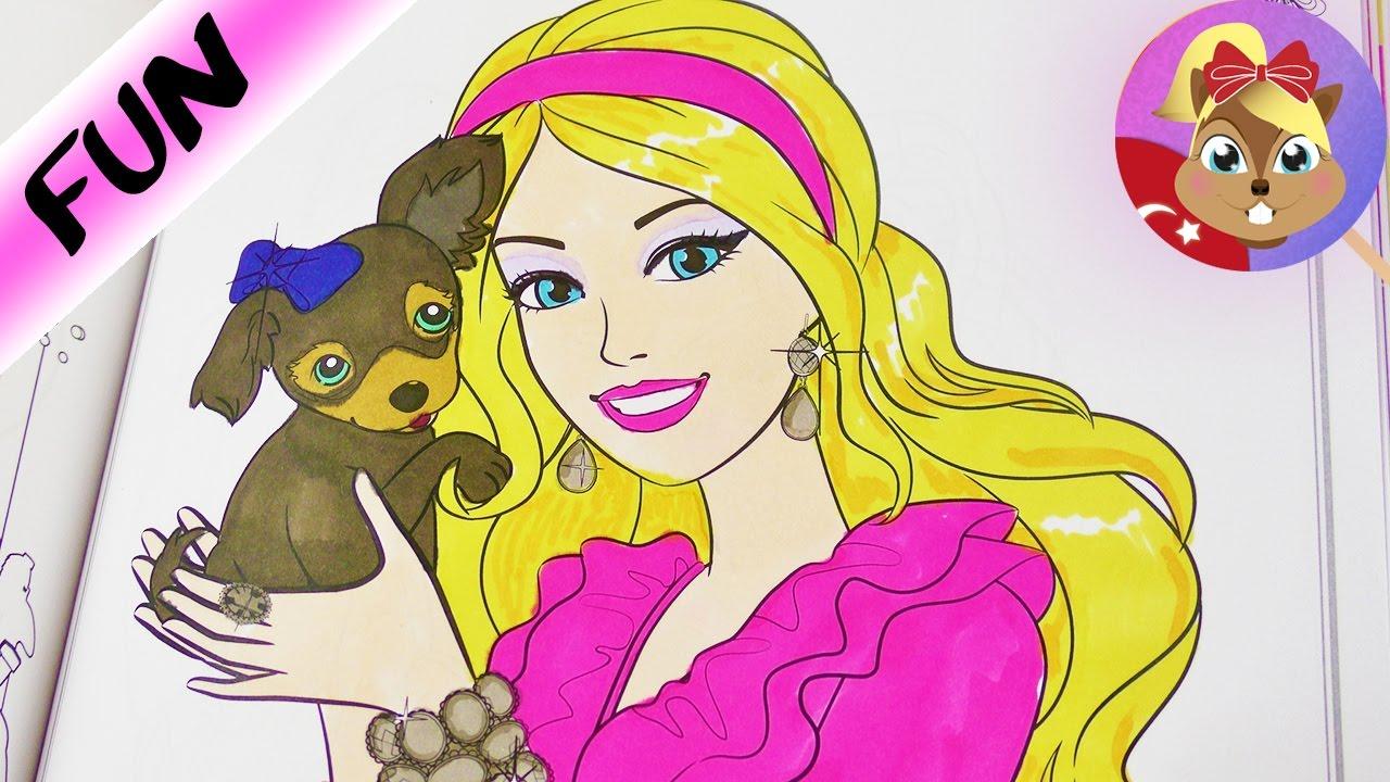 Barbie Ile Tatli Köpek Yavrusu Barbie Boyama Seti Benimle Oyna