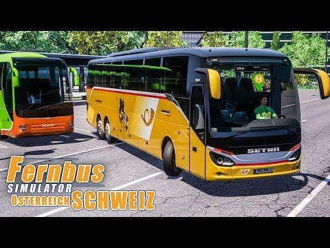 FERNBUS SIMULATOR Schweiz Österreich #79 - Mit dem Postbus in die Schweiz! FBS Platinum
