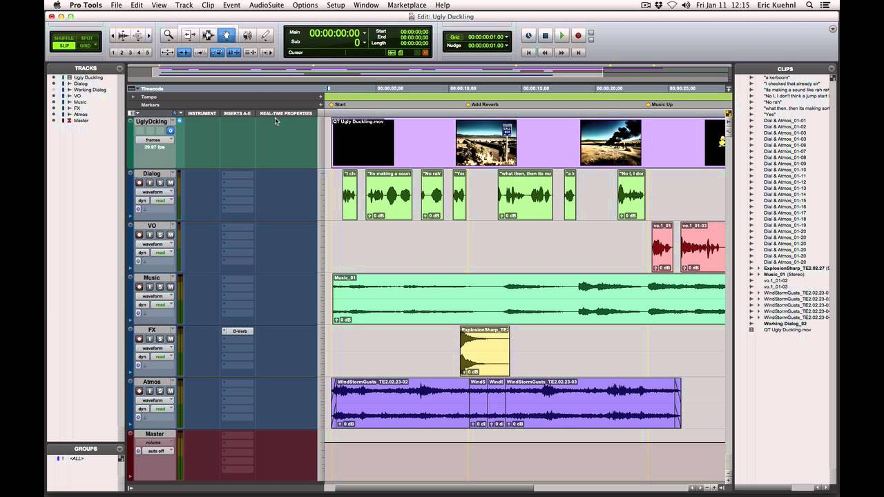 Edit & Mix Window Display Options in Pro Tools