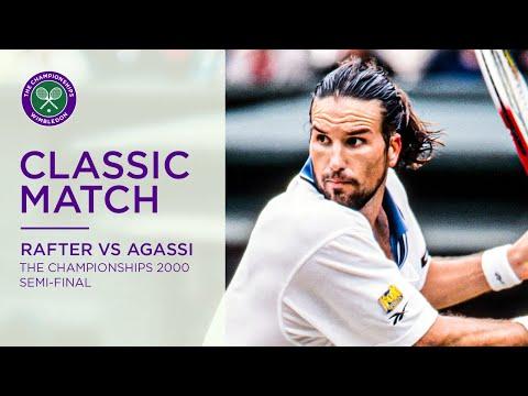 Andre Agassi vs Pat Rafter | Wimbledon 2000 Semi-final | Full Match Replay